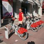 Городской пункт проката велосипедов в Лионе