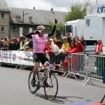 Победитель гонки - француз Лилиан Жегу