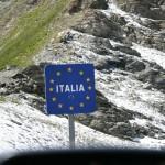Col de Agnel - граница Италии и Франции